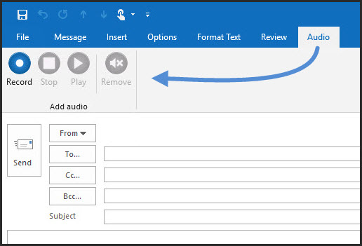 Audio for Outlook image